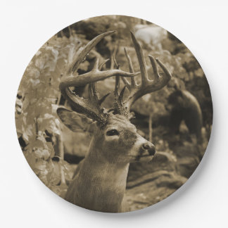 Trophy Deer Paper Plate