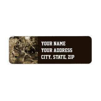 Trophy Deer Return Address Label