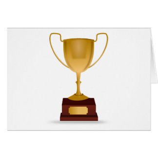 Trophy - Gold Cup Award - Winner, Best, No.1 Card