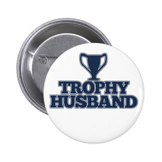 Trophy Husband 6 Cm Round Badge