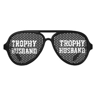 Trophy Husband bachelor party sunglasses for groom