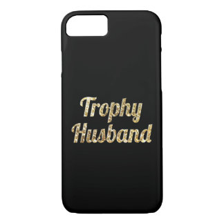 Trophy Husband Black and Gold Glittery iPhone 7 Case