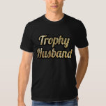 Trophy Husband Black and Gold Glittery T Shirts