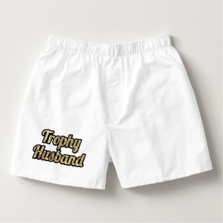 Trophy Husband Funny Boxers