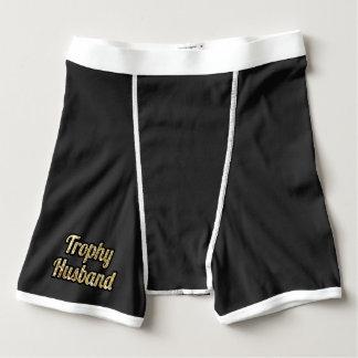 Trophy Husband Funny Men's Groom Boxer Briefs