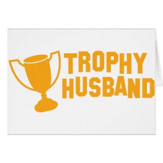 trophy husband greeting card