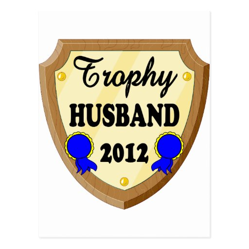 Trophy Husband Post Card