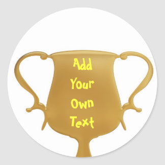 Trophy Round Sticker