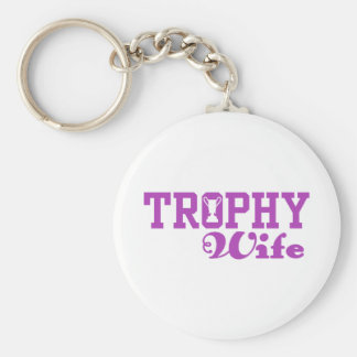 Trophy Wife Basic Round Button Key Ring