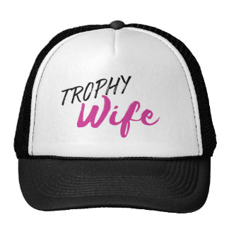 Trophy Wife Trucker Hat - Pink