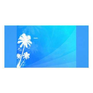 Tropic abstract personalized photo card