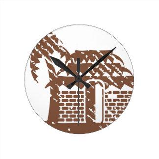 Tropic grungy hut / cabin vector clocks