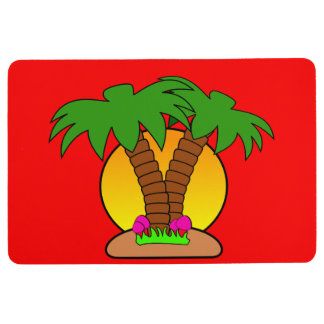 Tropic Island Red Floor Mat