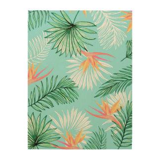 Tropic Palm Wood Wall Art