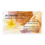 Tropic White Plumeria Spa Skin Care Massage Salon Business Card Templates