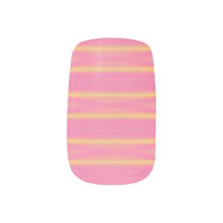 Tropical Abstract Pastel Airbrush Stripes Minx Nail Art