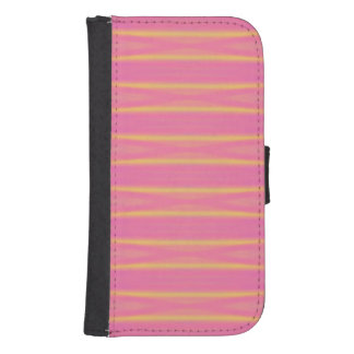 Tropical Abstract Pastel Pink, Yellow Stripes Samsung S4 Wallet Case