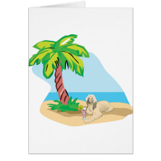 Tropical Afghan Hound Card