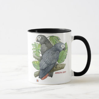 Tropical African Greys Mug