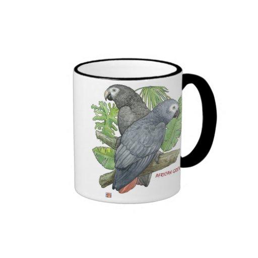 Tropical African Greys Mug