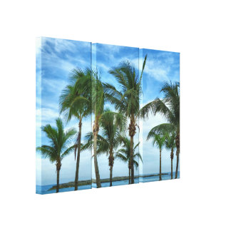 Tropical Afternoon with Palms Canvas Print