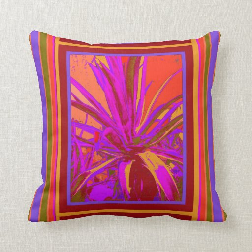 Tropical Agave Desert Design by Sharles Pillows