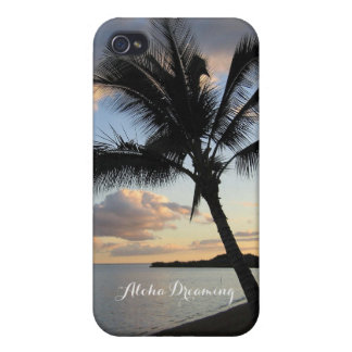 Tropical Aloha Dreaming Ocean Palm Tree Case For iPhone 4