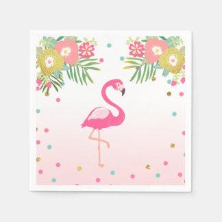 Tropical Aloha Flamingo Paper Napkins Birthday Disposable Napkin