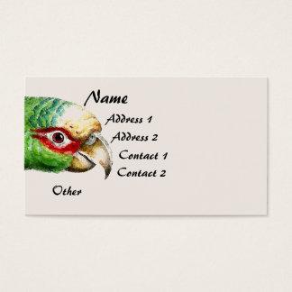 Tropical Amazon Parrot Bird Wildlife Business Card