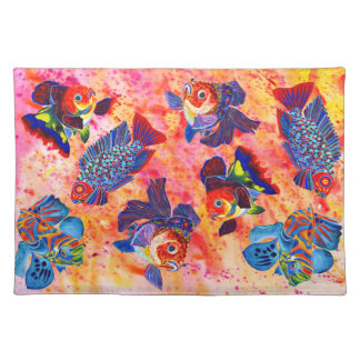 Tropical and goldfish design place mat