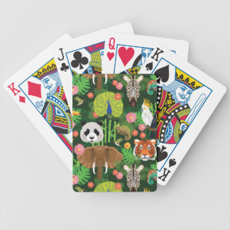 Tropical Animal Mix Bicycle Playing Cards