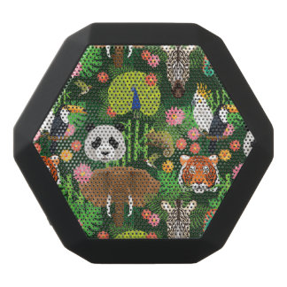 Tropical Animal Mix Black Bluetooth Speaker