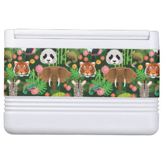 Tropical Animal Mix Igloo Cooler
