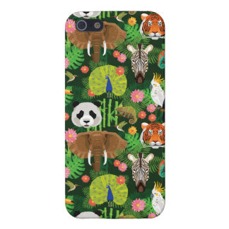 Tropical Animal Mix iPhone 5/5S Cases