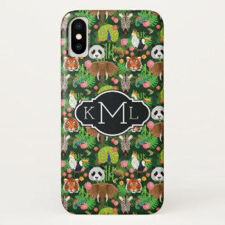 Tropical Animal Mix | Monogram iPhone X Case