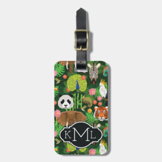 Tropical Animal Mix   Monogram Luggage Tag