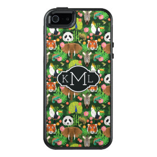 Tropical Animal Mix | Monogram OtterBox iPhone 5/5s/SE Case