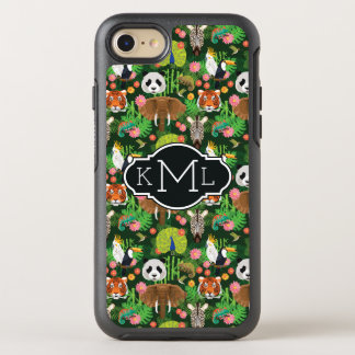 Tropical Animal Mix | Monogram OtterBox Symmetry iPhone 8/7 Case