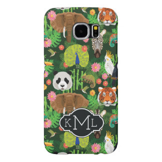 Tropical Animal Mix | Monogram Samsung Galaxy S6 Cases