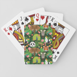 Tropical Animal Mix Playing Cards