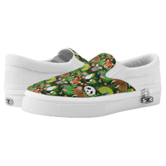 Tropical Animal Mix Printed Shoes