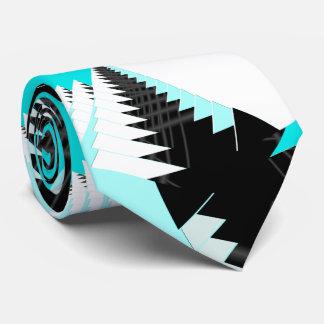 Tropical Aquamarine Fractal Tie