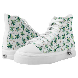 Tropical Australian Foxtail Palm Printed Shoes