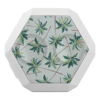 Tropical Australian Foxtail Palm White Bluetooth Speaker
