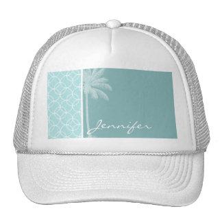 Tropical Baby Blue Circles Hats
