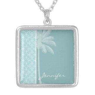 Tropical Baby Blue Circles Custom Jewelry