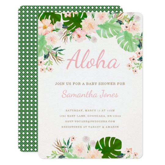 Tropical Baby Shower Invite