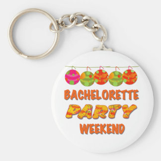 Tropical Bachelorette Party Weekend Key Chain