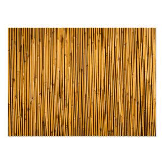 "Tropical Bamboo Background Tropical Island Blank 5.5"" X 7.5"" Invitation Card"