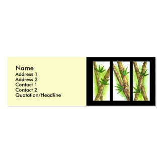 Tropical Bamboo Painting - Multi Pack Of Skinny Business Cards